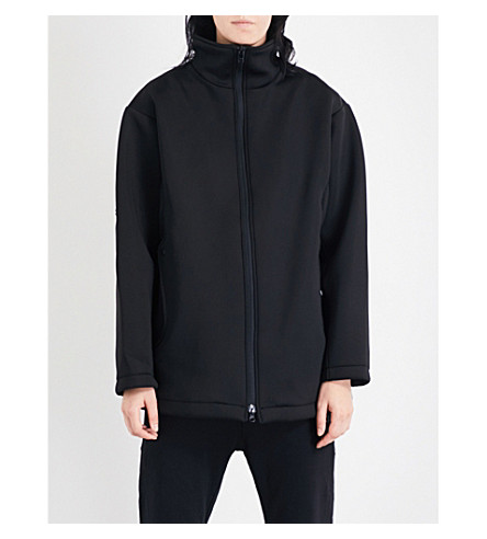 Y3 Stand-collar neoprene jacket (Black