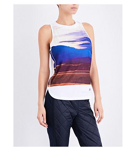 ADIDAS BY STELLA MCCARTNEY Essentials Nature stretch-jersey top (White