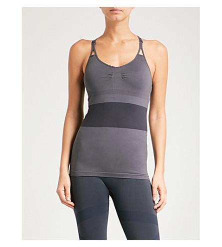 ADIDAS BY STELLA MCCARTNEY Training stretch-jersey top (Night+steel+smc