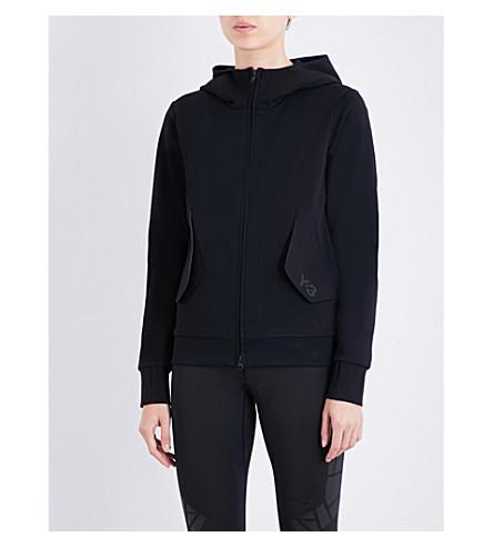 Y3 Lux neoprene hoody (Black