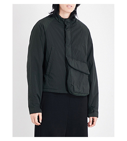 Y3 Pocket-detail shell jacket (Dark+black+olive