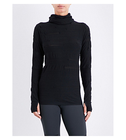 Y3 Turtleneck fine-knit top (Black