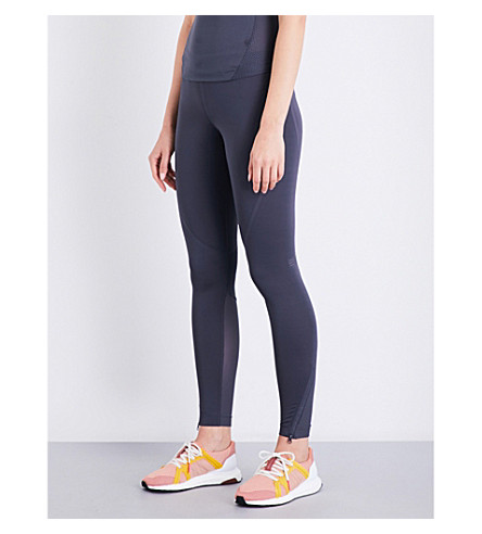 ADIDAS BY STELLA MCCARTNEY Training Climachill stretch-jersey cropped top (Night+steel
