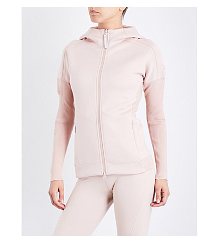 ADIDAS BY STELLA MCCARTNEY Z.N.E. knit-lined jersey hoody (Pearl+rose