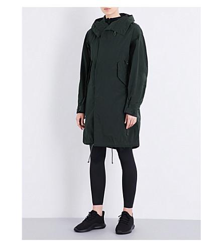Y3 Hooded shell parka jacket (Dark+black+olive