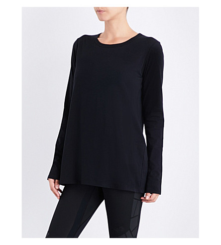 Y3 Lux cotton-jersey top (Black