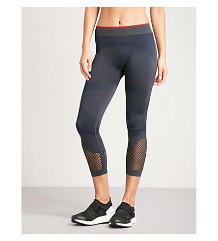 ADIDAS BY STELLA MCCARTNEY Training Seamless stretch-jersey leggings (Night+grey