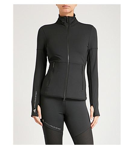 ADIDAS BY STELLA MCCARTNEY Performance Essentials Midlayer jersey jacket (Black