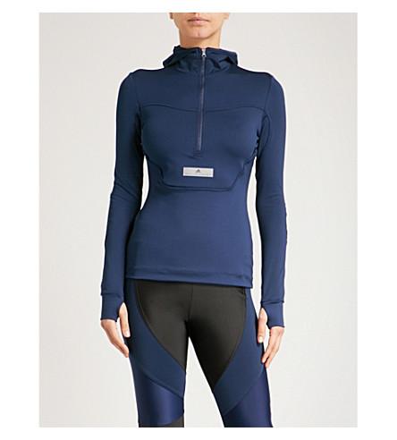 ADIDAS BY STELLA MCCARTNEY Run zip-up jersey hoody (Collegiate+navy