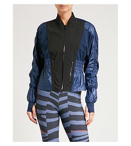 ADIDAS BY STELLA MCCARTNEY Run Wind shell and jersey jacket (Collegiate+navy