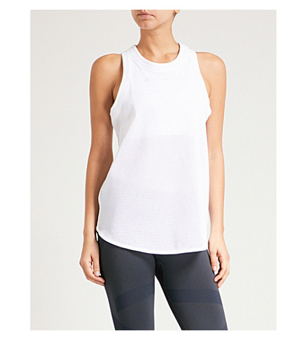 ADIDAS BY STELLA MCCARTNEY Yoga sports mesh top (White
