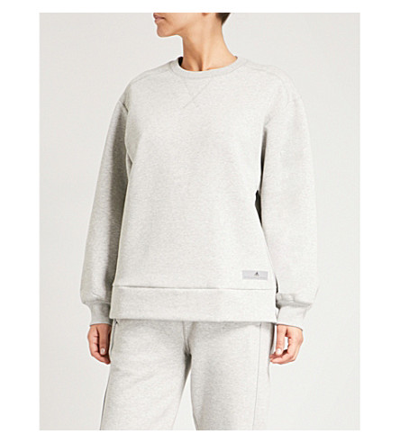 ADIDAS BY STELLA MCCARTNEY Comfort cotton-blend sweatshirt (Marble+grey+htr