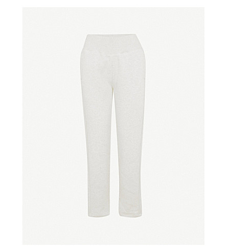 ADIDAS BY STELLA MCCARTNEY Comfort cotton-blend jogging bottoms (Marble+grey+htr