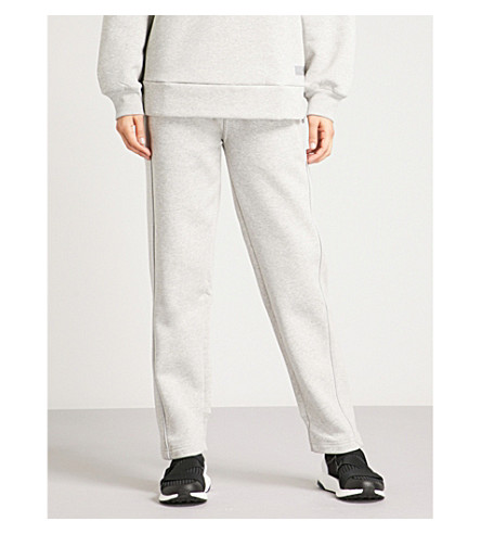 ADIDAS BY STELLA MCCARTNEY Comfort cotton-blend jogging bottoms (Marble grey htr