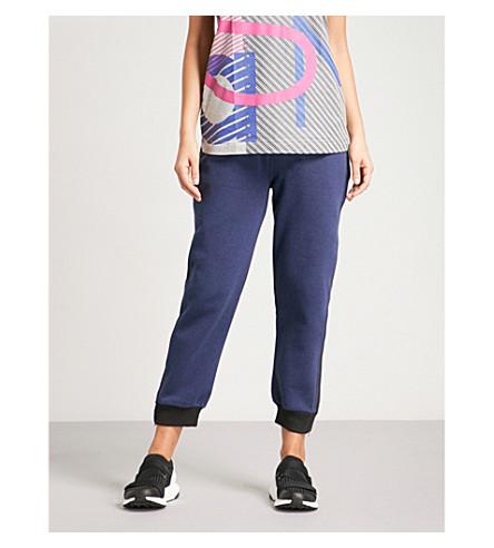 ADIDAS BY STELLA MCCARTNEY Essentials cotton-blend jogging bottoms (Midnight+sky+black