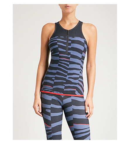 ADIDAS BY STELLA MCCARTNEY Training Miracle Sculpt jersey top (Nit+gry+tech+ink+red