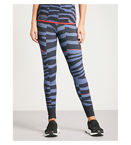 ADIDAS BY STELLA MCCARTNEY Training Miracle jersey leggings (Nit+gry+tech+ink+red