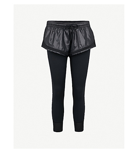 ADIDAS BY STELLA MCCARTNEY Performance Essentials shell and stretch-jersey tights (Black