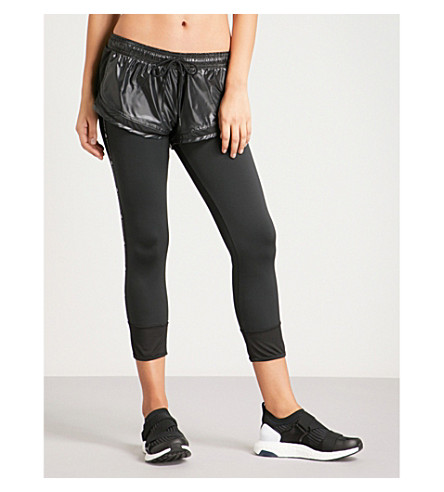Huge Surprise For Sale ADIDAS BY STELLA MCCARTNEY Performance Essentials shell and stretch-jersey tights Black Free Shipping Shop Offer Best Wholesale Cheap Online Mq5jV1l