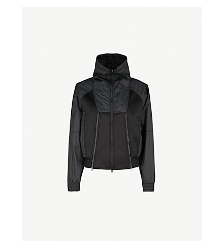 ADIDAS BY STELLA MCCARTNEY Oversized shell and neoprene jacket (Black