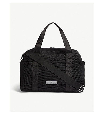ADIDAS BY STELLA MCCARTNEY Shipshape mesh gym bag (Black+gun+metal