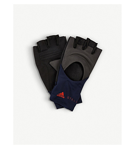 ADIDAS BY STELLA MCCARTNEY Logo-detail training gloves (Tech+ink+night+viv+red