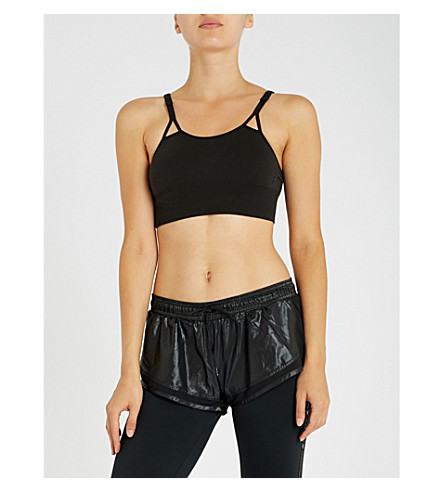 ADIDAS BY STELLA MCCARTNEY Seamless stretch-jersey sports bra (Black