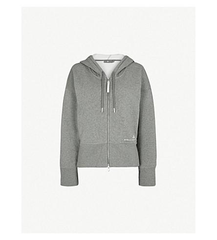 ADIDAS BY STELLA MCCARTNEY Essentials cotton-blend hoody (Grey four htr