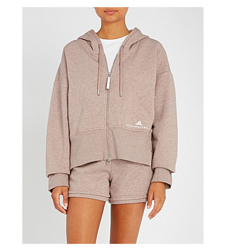 ADIDAS BY STELLA MCCARTNEY Essentials cotton-blend hoody (Tanned+sand+mel