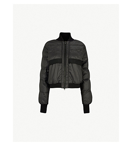 ADIDAS BY STELLA MCCARTNEY Padded shell jacket (Black storm mel