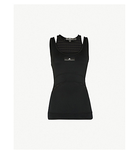 ADIDAS BY STELLA MCCARTNEY Training stretch-jersey top (Black