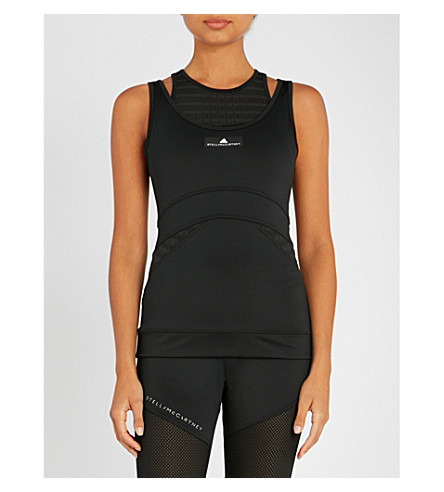 ADIDAS BY STELLA MCCARTNEY Training stretch-jersey top (Black