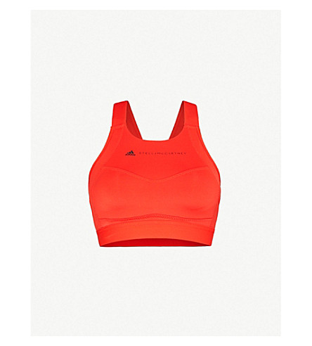 c49e8635ffe0c ADIDAS BY STELLA MCCARTNEY Performance Essentials stretch-jersey sports bra  (Core+red