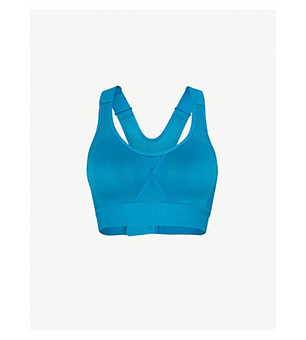 06baefcce7d2b ADIDAS BY STELLA MCCARTNEY Stronger For It microfibre sports bra (Hero+blue +f13