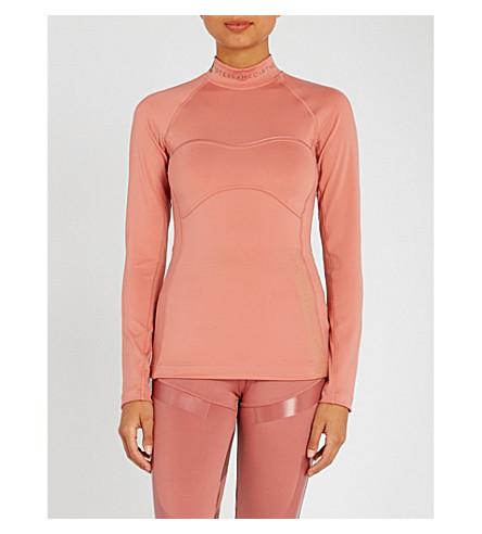 ADIDAS BY STELLA MCCARTNEY Training Outdoor stretch-jersey top (Raw+pink+f15
