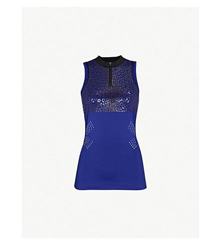 ADIDAS BY STELLA MCCARTNEY Run stretch-jersey top (Real+purple+s18