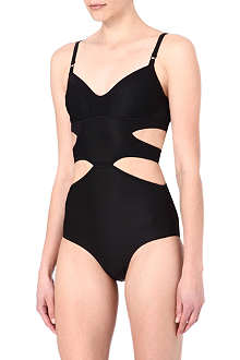 ADIDAS STELLA Cut-out mesh-trimmed swimsuit