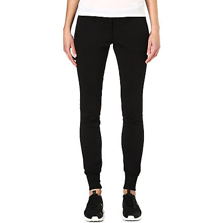 Y3 Cuffed jogging bottoms (Black