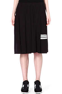 Y3 Striped pleated skirt