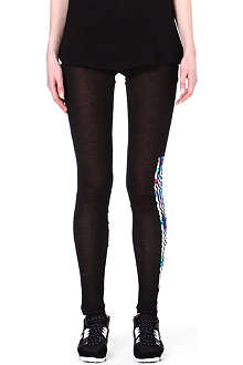 Y3 Semi-sheer striped leggings