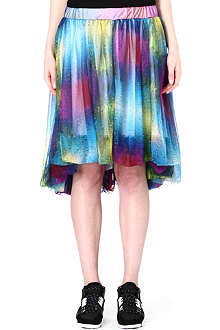 Y3 Water-print pleated skirt