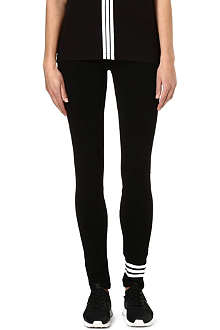 Y3 Stripe jersey leggings