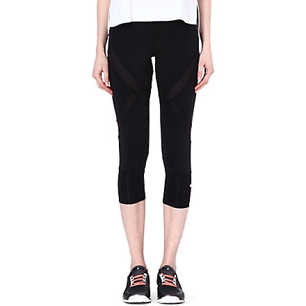 ADIDAS STELLA Mesh running tights (Black