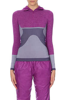 ADIDAS BY STELLA MCCARTNEY Wintersport seamless hooded zip-up top