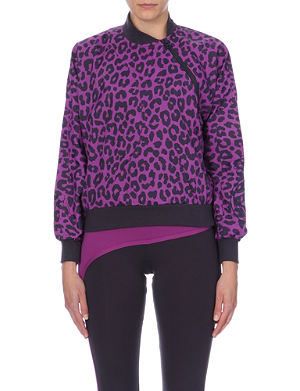 ADIDAS BY STELLA MCCARTNEY Leopard-print waterproof top