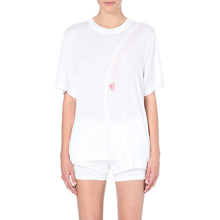 ADIDAS BY STELLA MCCARTNEY Logo-detail jersey t-shirt (White
