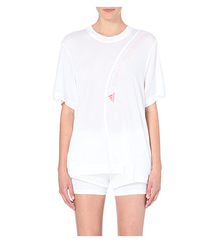 ADIDAS BY STELLA MCCARTNEY Logo-detail jersey t-shirt (White