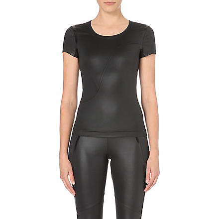 ADIDAS BY STELLA MCCARTNEY Run Performance stretch-jersey t-shirt (Black
