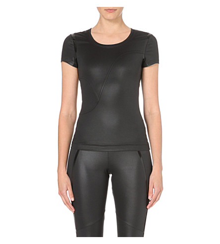 ADIDAS BY STELLA MCCARTNEY Run Performance stretch-jersey t-shirt (Black