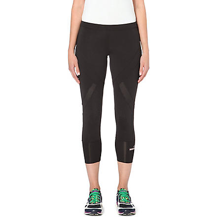 ADIDAS BY STELLA MCCARTNEY Three-quarter stretch-jersey leggings (Black